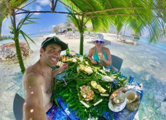 Barbecue polynésien sur motu privé