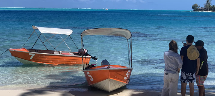 Bateau Quintrex à louer sur la plage